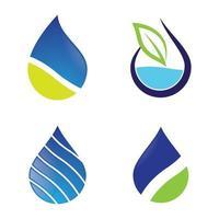 conjunto de imagens de logotipo de gota d'água vetor