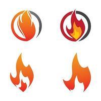 conjunto de imagens de logotipo de fogo vetor