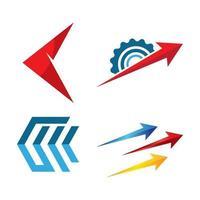 conjunto de imagens de logotipo de seta vetor