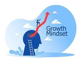 visão do empresário com binóculos para oportunidades na cabeça humana para o alvo vetor
