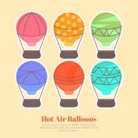 Conjunto de balões de ar quente de vetor