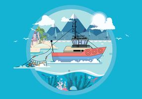 Vetor de Vol 3 de pesca em alto mar