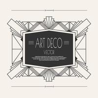Quadro Art Deco Vintage vetor