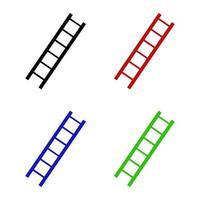 escada em fundo branco vetor