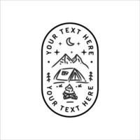 Vetor de design de emblema de aventura minimalista isolado no fundo branco