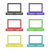 laptop em fundo branco vetor