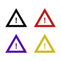 conjunto de sinal de alerta em fundo branco vetor
