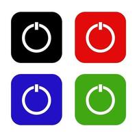 botão liga / desliga em fundo branco vetor