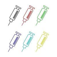 seringa definida em fundo branco vetor