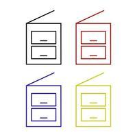 conjunto de fotocopiadora em fundo branco vetor