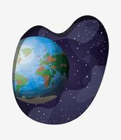 ilustração em vetor design planeta Terra sistema solar