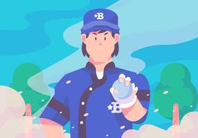 Vetor de arremessador de beisebol