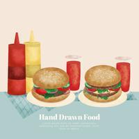Vector mão desenhada comida