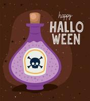 desenho de vetor de garrafa de veneno de halloween