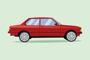 ilustração vetorial de carro vermelho vetor