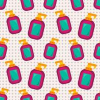 ilustração de padrão sem emenda de garrafa de desinfetante para mãos vetor