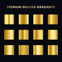 conjunto gradiente ouro premium vetor