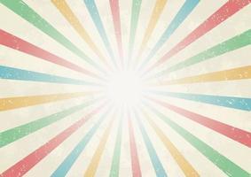 raio de sol do centro de cor vintage