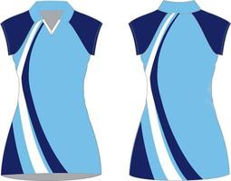 vestidos de netball maquetes sublimadas vetor