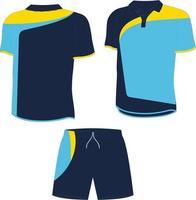 camisas polo e shorts masculinos vetor