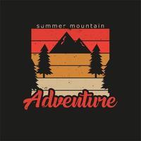 ilustração de aventura de montanha de verão vetor