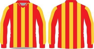 camisas de futebol sublimadas manga completa vetor