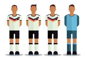 Personagens de futebol alemães vetor