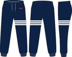 Desenhos de maquetes de calças de moletom vetor