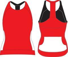 t-shirt regata feminina maquetes vetor