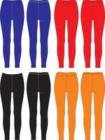 leggings de design personalizado para esportes vetor