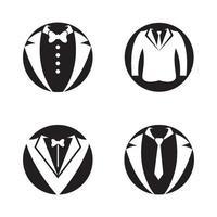 conjunto de imagens de logotipo de smoking vetor