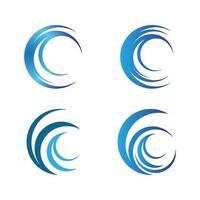 conjunto de design de logotipo de círculo vetor