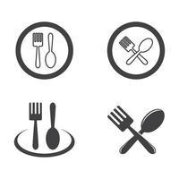 conjunto de imagens de logotipo de restaurante vetor