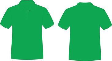 camiseta de meia manga verde vetor