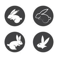 conjunto de ilustração de imagens de logotipo de coelho vetor