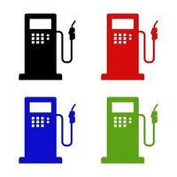 posto de gasolina em fundo branco vetor