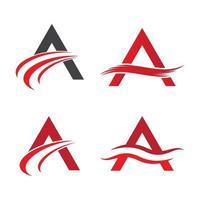 imagens do logotipo da letra a vetor