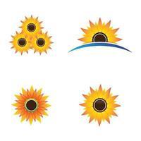 conjunto de imagens do logotipo do girassol