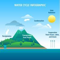 Vetor de infográfico de ciclo de água