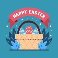 ilustrações coloridas de ovos de páscoa ornamentados
