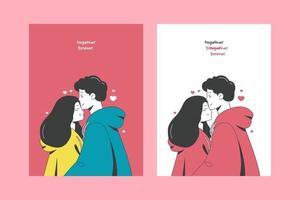 ilustrações do dia dos namorados para cartazes de cartões ou adesivos vetor
