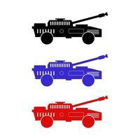 tanque definido em fundo branco vetor