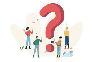 perguntas frequentes de pontos de interrogação vetor
