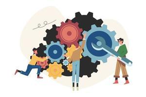links de pessoas do mecanismo de análise de estratégia de negócios vetor