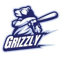 Ursos de beisebol vetor
