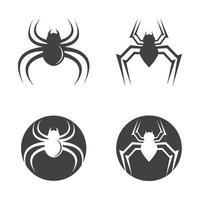 conjunto de ilustração de imagens de logotipo de aranha vetor