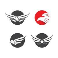 conjunto de imagens do logotipo da águia vetor
