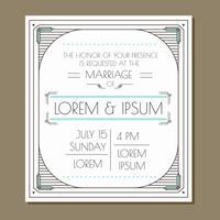 Convite do casamento do encanto do vintage vetor