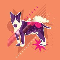 cão abstrato vetor