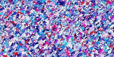 pano de fundo vector azul e vermelho claro com linhas, triângulos.
